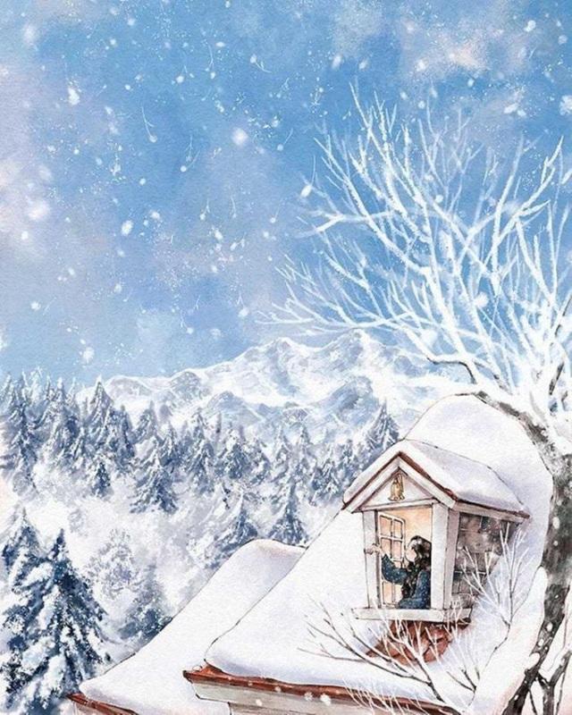 Chào đón mùa đông qua khung cửa sổ