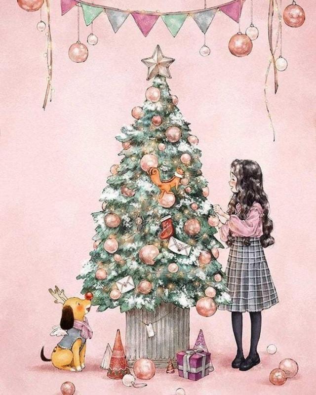 Trang trí cây thông Noel theo cách của riêng mình