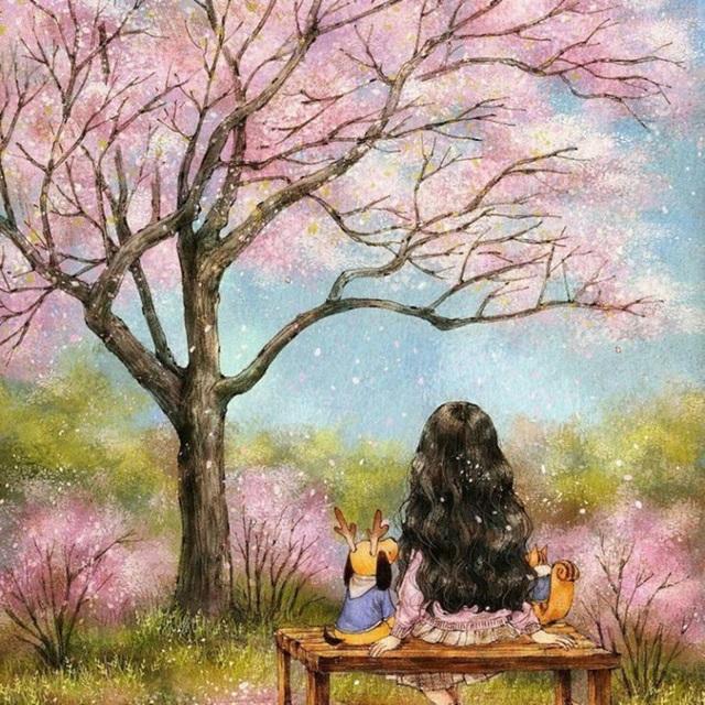 Đến mùa xuân, mình cũng đi ngắm hoa như ai