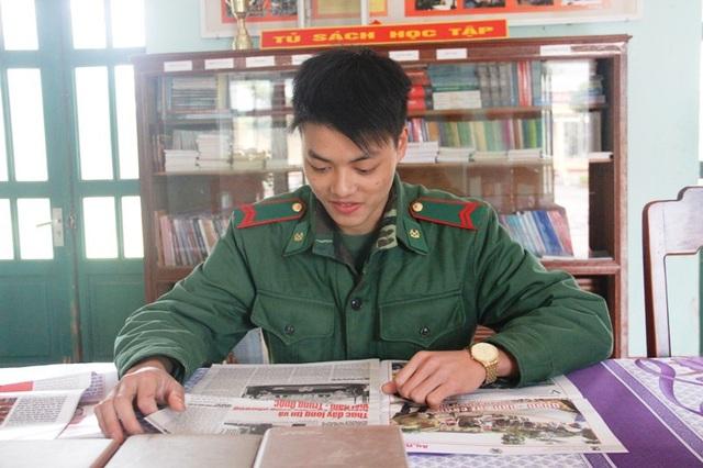Chiến sĩ Tính bày tỏ niềm vui khi được tham gia trực Tết, đón Xuân tại đơn vị