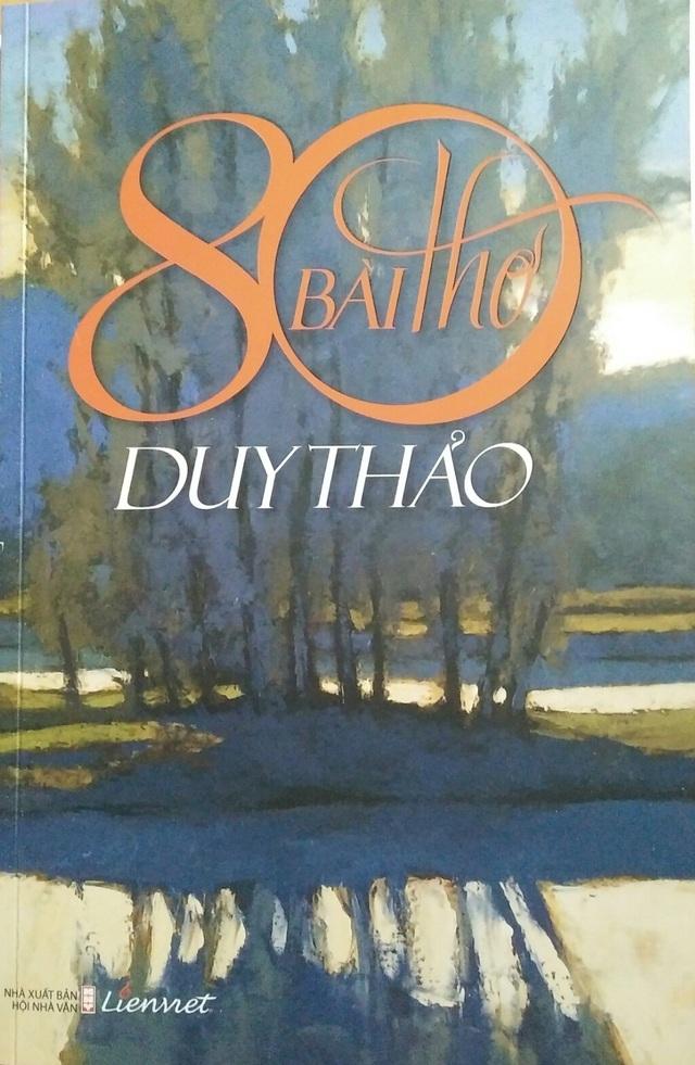"""Bìa tập sách """"80 bài thơ Duy Thảo"""" vừa xuất bản"""