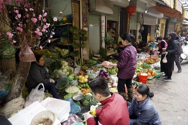 Khu vực bán rau củ quả.