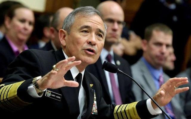 Tư lệnh Bộ Chỉ huy Thái Bình Dương Mỹ, Đô đốc Harry Harris (Ảnh: Reuters)