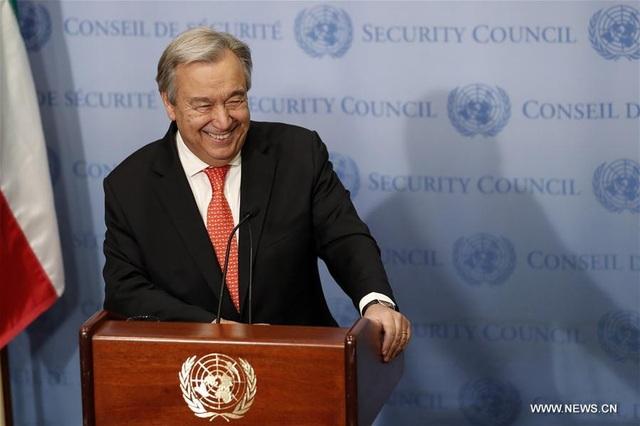 Tổng thư ký Liên Hợp Quốc Antonio Guterres (Ảnh: News.cn)