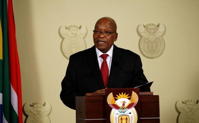 Tổng thống Nam Phi Jacob Zuma tuyên bố từ chức. (Ảnh: Reuters)