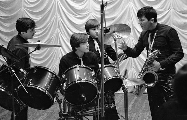 Ban nhạc nhà Ovechkin trong một buổi tập luyện (Ảnh: Sputnik)