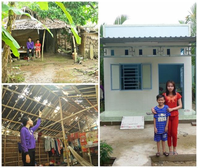 Hai chị em Nguyễn Thị Minh Thư rất vui khi được đón tết trong căn nhà mới