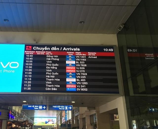 Lịch các chuyến bay đến TP.HCM khá dày trong ngày mùng 2 Tết Mậu Tuất 2018. Ảnh: P.ĐIỀN
