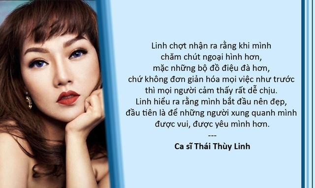 Xem thêm: Thái Thùy Linh đang học để làm một người phụ nữ đúng nghĩa