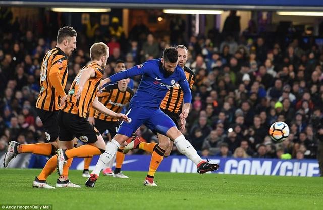 Chelsea vừa đánh bại Hull 4-0 để có mặt tại tứ kết FA Cup