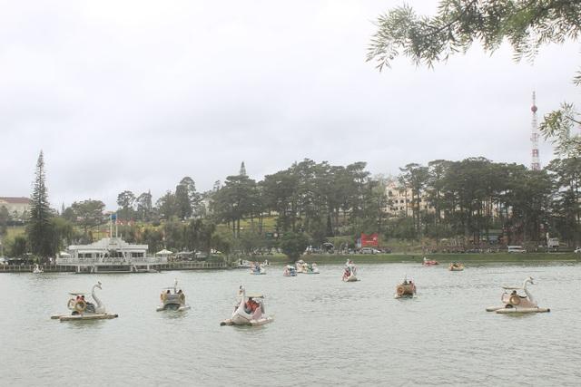 Ngắm hồ Xuân Hương trên những chú vịt nước