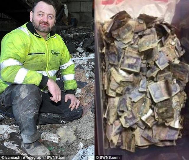 Số tiền 200 triệu đồng được trao cho công nhân vệ sinh người Anh.
