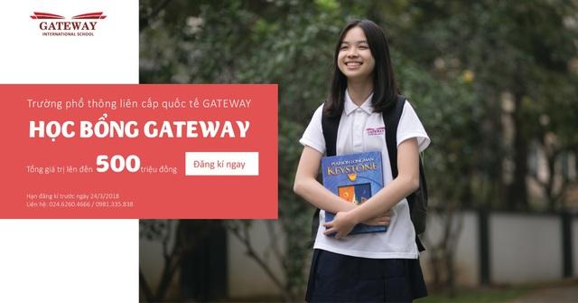 Chương trình trao học bổng, hỗ trợ giáo dục được Gateway thực hiện hàng năm nhằm tìm ra những học sinh có tài năng và khuyến khích, hỗ trợ các em nhập học tại trường.