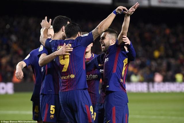 Barcelona đặt một chân vào chung kết Cúp Nhà vua năm nay