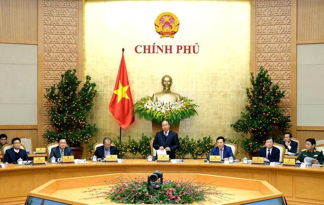 Thủ tướng chủ trì phiên họp thường kỳ tháng 1/2018 của Chính phủ (ảnh: VGP)