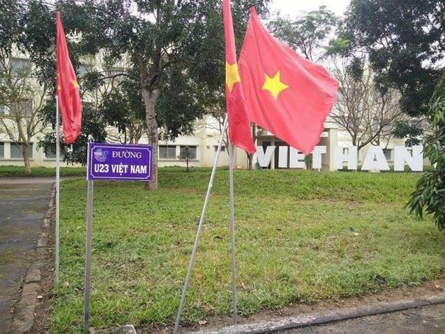 Con đường mang tên U23 Việt Nam. (Ảnh: VietHannit)