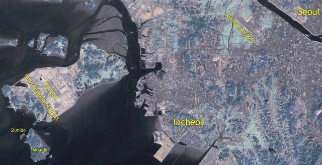 Bản đồ vị trí đảo Silmido tại Hàn Quốc - nơi đào tạo biệt đội 684 (Ảnh: Wikipedia)