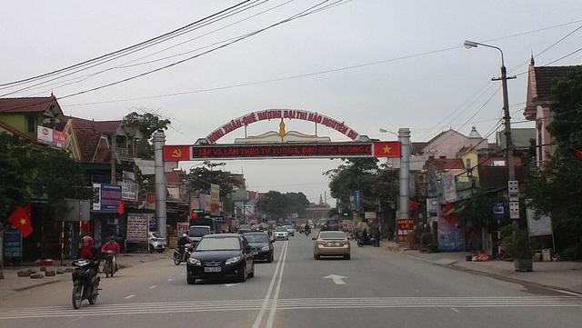 Đường vào quê hương Đại thi hào Nguyễn Du - Danh nhân văn hóa thế giới.