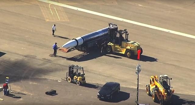 Tên lửa mới được phát hiện ở căn cứ Alameda của Mỹ (Ảnh: Sputnik)
