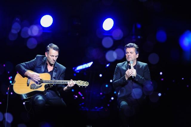 Cựu thành viên của nhóm nhạc Modern Talking - nam ca sĩ Thomas Anders (phải)