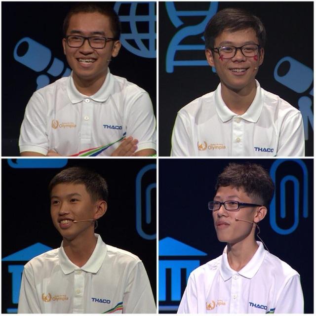 4 thí sinh: Quang Trường, Đức Thành, Đức An, Nhân Quyền đấu trí gay cấn trong cuộc thi Quý 2 Đường lên đỉnh Olympia năm thứ 18