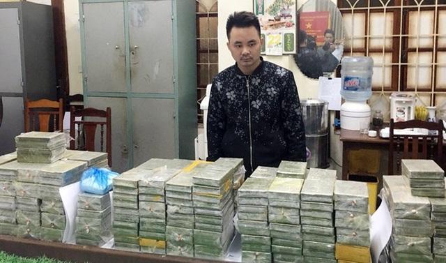 Đối tượng Trần Văn Thành và số lượng 288 bánh heroin thu giữ