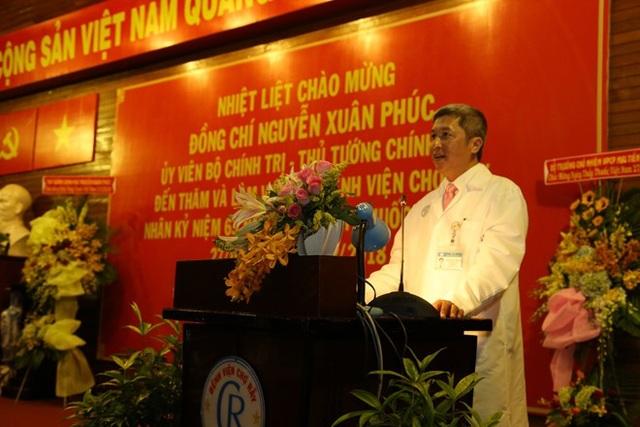 Phó GS.TS Nguyễn Trường Sơn-Giám đốc BV Chợ Rẫy phát biểu.