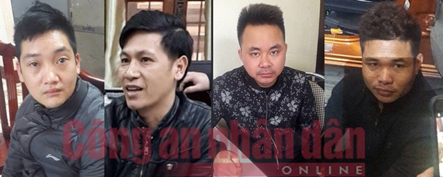 Các đối tượng Trần Văn Bằng, Trần Văn Thành, Phan Văn Hiển, Nông Thanh Hoan.