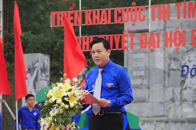 Anh Phạm Tuấn Vinh - UVBTV Trung ương Đoàn, Bí thư Tỉnh đoàn phát biểu khởi động tháng Thanh niên.