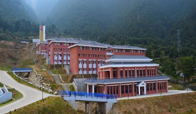 Công trình Học viện đào tạo thuộc lực lượng Cảnh sát Vũ trang Nepal do Trung Quốc tài trợ. (Ảnh: SCMP)