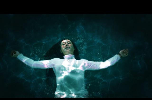 Hoa Trần cảnh trước và sau khi ngâm mình dưới nước.