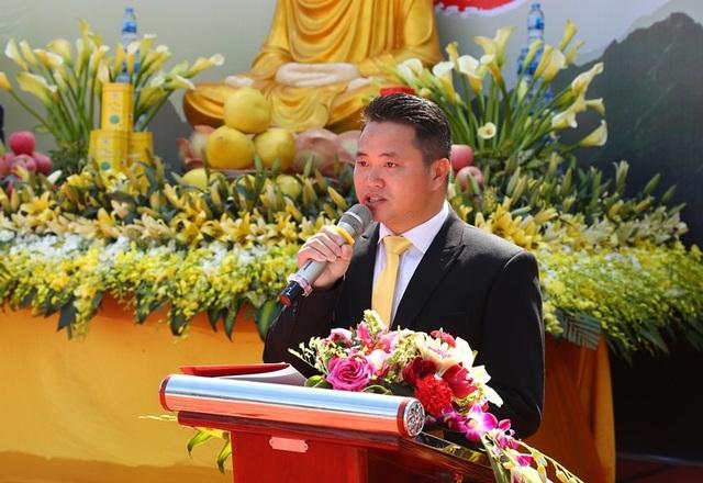 Ông Nguyễn Xuân Chiến, Giám đốc Sun World Fansipan Legend phát biểu khai mạc Hội xuân Mở cổng trời Fansipan