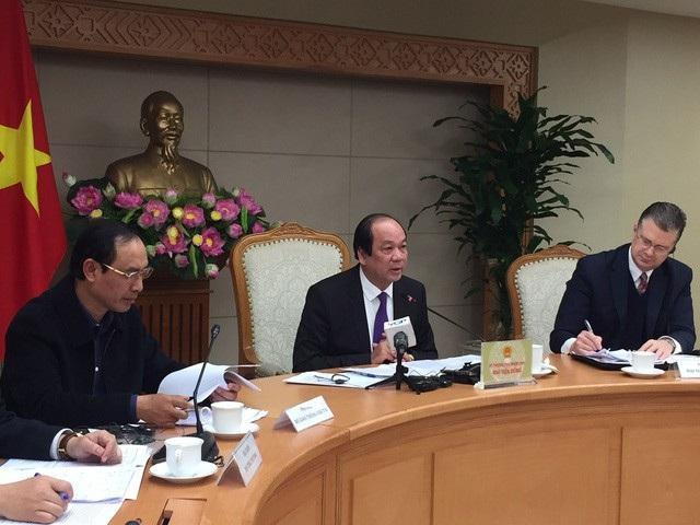 Bộ trưởng - Chủ nhiệm Văn phòng Chính phủ Mai Tiến Dũng chủ trì cuộc đối thoại