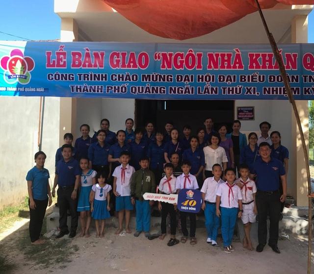 5 năm qua, thiếu nhi tỉnh Quảng Ngãi đã đóng góp để hỗ trợ xây dựng 120 căn nhà cho bạn học có hoàn cảnh gia đình khó khăn