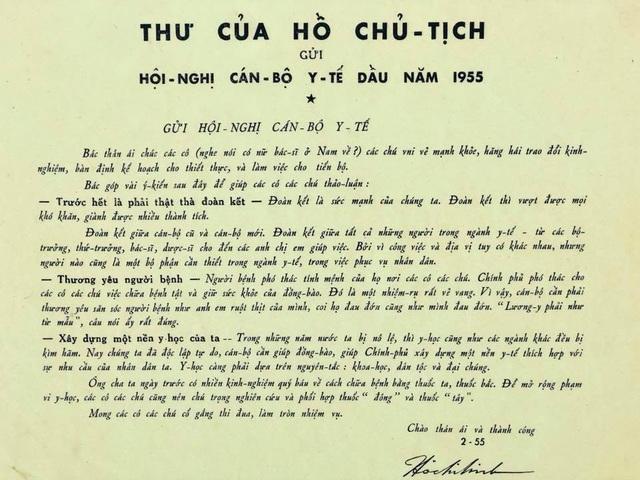 Bức thư quý của Bác Hồ được trao cho ngành y tế - 1