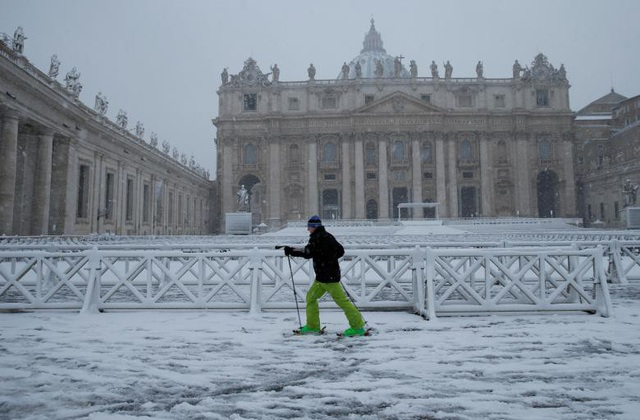 Các khu vực khác ở châu Âu cũng trải qua những ngày thời tiết lạnh giá khi nhiệt độ một số vùng ở Anh, Bỉ, Đức hay Nga giảm xuống dưới -10 độ C. (Ảnh: Reuters)
