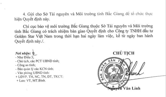 Công ty TNHH đầu tư Golden Star Việt Nam đã thực hiện vận chuyển chất thải nguy hại là các vỏ thùng đựng hóa chất đã qua sử dụng có dung tích 1000 lít/thùng.