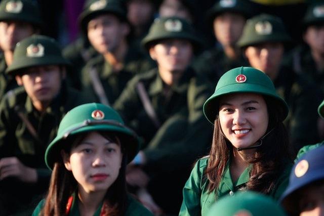 Chỉ tiêu tuyển nữ vào trường quân đội rất ít. (Ảnh: Hoàng Triều)
