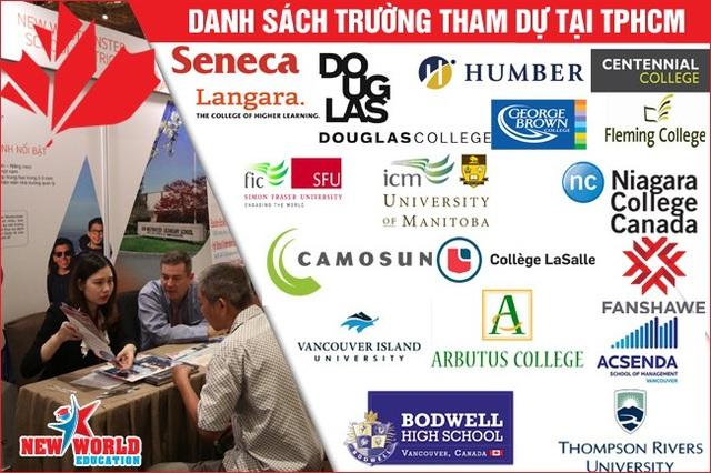 Thông tin học bổng, ưu đãi từng trường tham dự tại TPHCM: http://canadaedufair.newworldedu.vn/