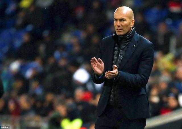 Nỗi thất vọng của HLV Zidane