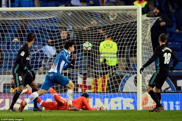 Thủ thành Navas bất lực khi Moreno ghi bàn duy nhất của trận đấu cho Espanyol