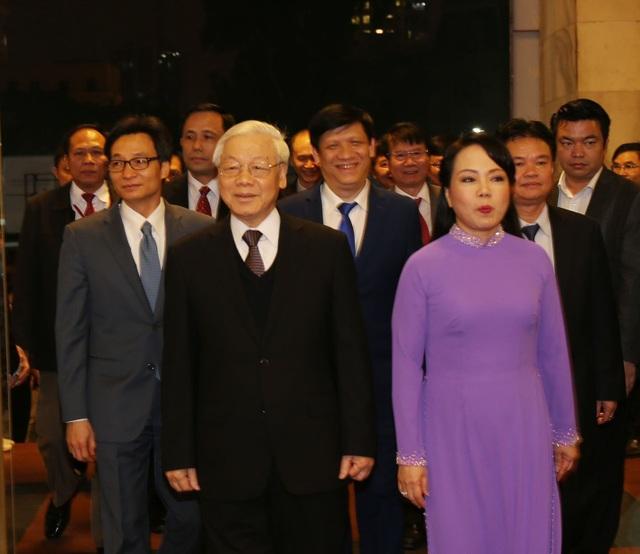 Tổng Bí thư Nguyễn Phú Trọng đến dự Lễ kỷ niệm. Ảnh:Trí Dũng – TTXVN.