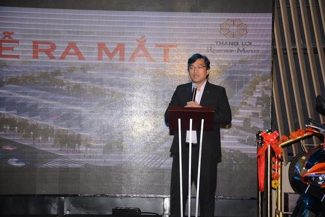 Ông Dương Long Thành – Tổng giám đốc Thắng Lợi Group, đại diện chủ đầu tư chia sẻ về dự án