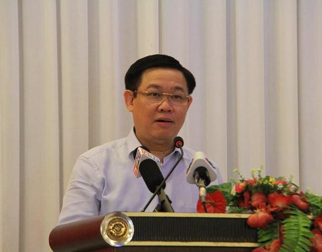 Phó Thủ tướng Chính Phủ Vương Đình Huệ phát biểu tại Hội nghị tổng kết 15 năm hoạt động của Ban chỉ đạo Tây Nam Bộ