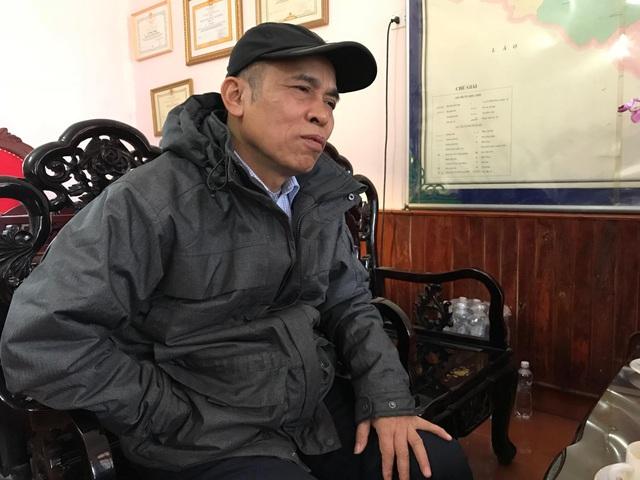 Ông Lê Huy Dũng - Giám đốc công ty trong buổi làm việc với phóng viên.