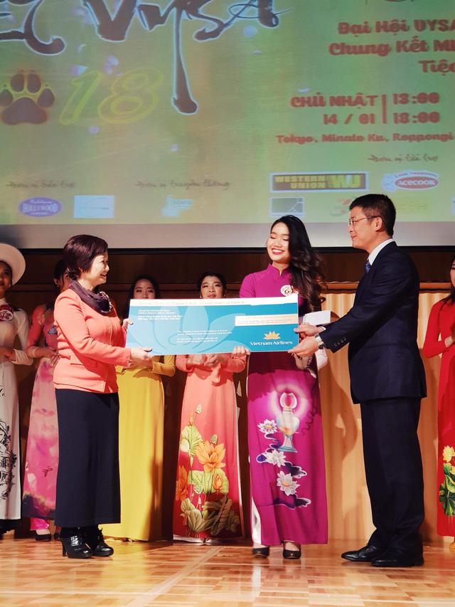 Cô gái tài sắc nhận giải đặc biệt cuộc thi Hoa khôi du học sinh Việt tại Nhật 2017.