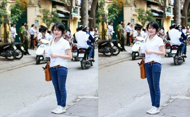 """Hình ảnh gốc (trái) và hình ảnh sau khi đã được ứng dụng """"kéo chân"""""""