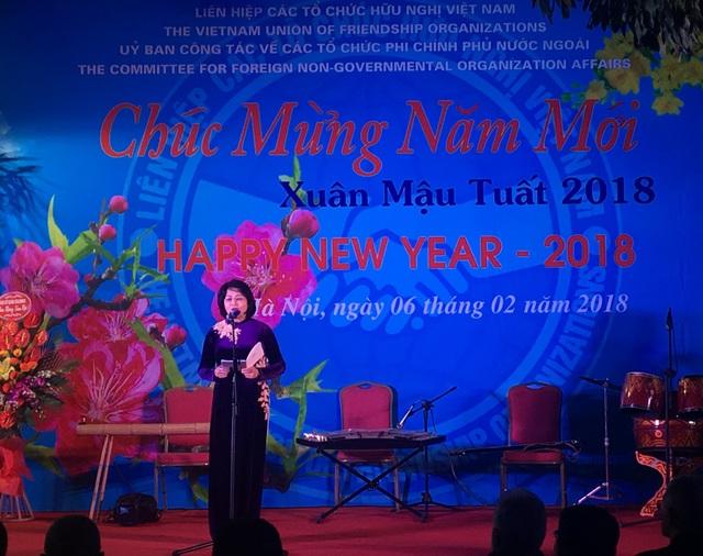 Phó Chủ tịch nước Đặng Thị Ngọc Thịnh phát biểu tại buổi gặp mặt (Ảnh: Đức Hoàng)