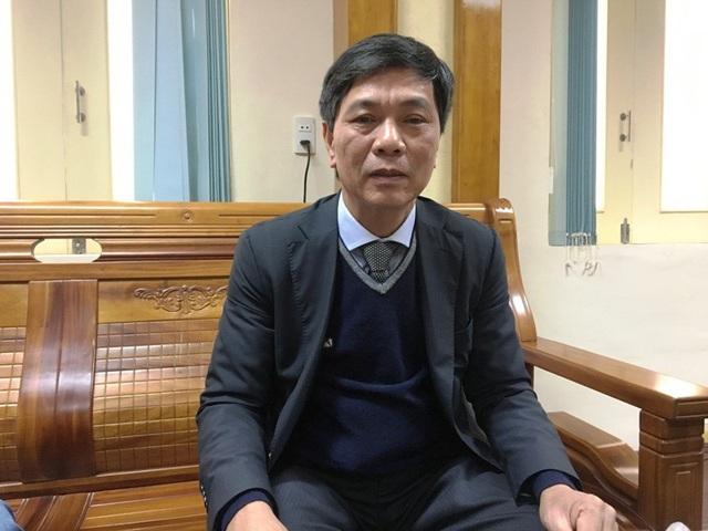 """Làm việc với PV Dân trí, ông Lê Văn Phúc khẳng định: """"Việc bổ nhiệm ông Hà Quốc Vương Anh lên Bí thư Thành đoàn TP Đồng Hới là hoàn toàn đúng quy trình, không sai."""