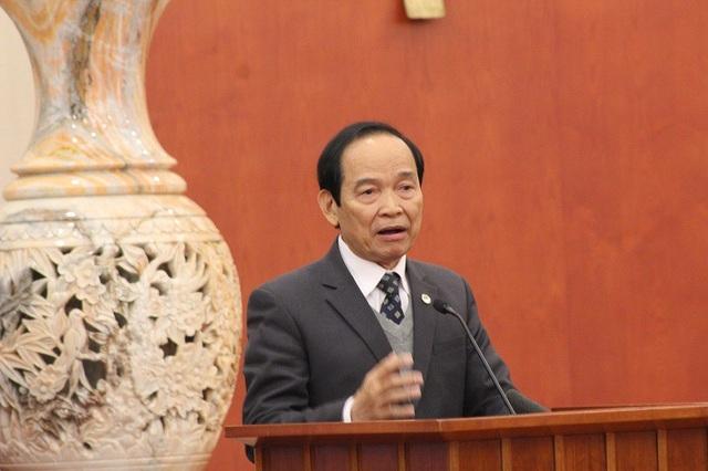 GS.TS Trần Hữu Giang – Chủ tịch Hội liên hiệp khoa học kỹ thuật Thừa Thiên – Huế phát biểu tại buổi lễ